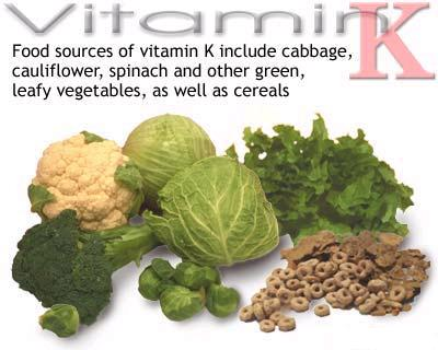 Image result for Vitamin K in food sources