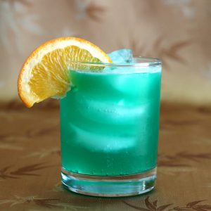 Blue Curaçao Drink with Triple Sec and Tequila