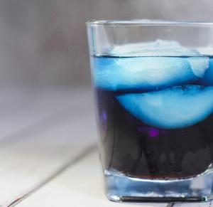 Blue Curaçao and Jagermeister Mixed Drink