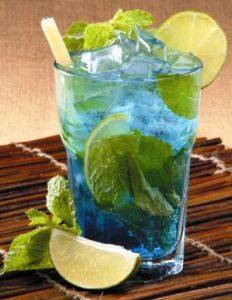 Easy Mojito with Blue Curaçao Recipe
